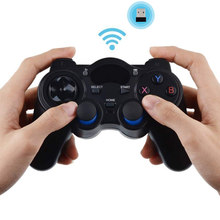2.4G Hz Nirkabel Gamepad Gaming Controller untuk PS3 Android TV Box PC Gpd XD dengan OTG Komputer Converter Joystick Joypad controle(China)