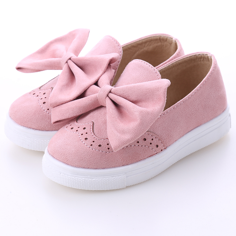 Autumn Big Girls Shoes Fashion Princess Slip-on Children Casual Shoes Velet Butterfly Knot For Girls Shoe Size 26-30Autumn Big Girls Shoes Fashion Princess Slip-on Children Casual Shoes Velet Butterfly Knot For Girls Shoe Size 26-30