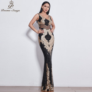 Image 2 - Đẹp Đôi Cánh Thiên Thần Đầm Váy ĐầM Dạ Nữ Dài Đầm Vestido De Festa Váy Dạ Hội Vestidos Đầm Vestido De Festa Longo