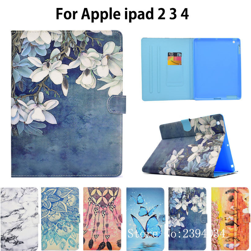 Fashion Panda Owl Pattern Case For Apple ipad 2 3 4 Smart Case Cover For iPad4 iPad 3 iPad2 Funda Tablet PU Leather Stand Shell business retro leather case for ipad 2 3 4 case for ipad2 ipad3 ipad4 flip stand smart cover protective shell skin funda