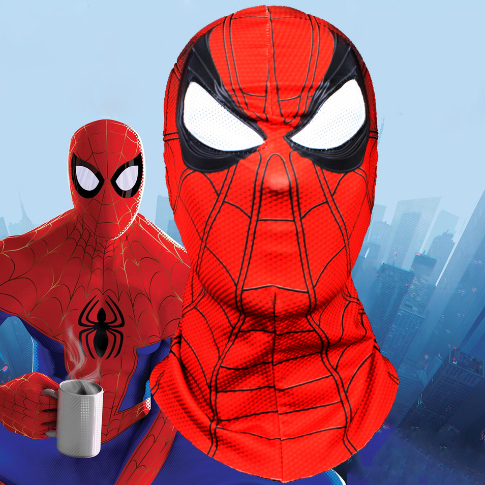 Spider-man Peter Parker Masks Cosplay Spider Man Mask Spider-Man: Into the Spider-Verse Costumes Helmet Halloween Party Props