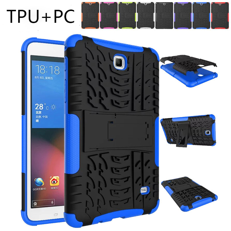 For Samsung Galaxy Tab 4 7.0 SM T230 Case Cover Coque T231 T235 Heavy Duty Rugged Impact Hybrid Case Kickstand Protective Cover аксессуар чехол samsung galaxy tab a 7 sm t285 sm t280 it baggage мультистенд black itssgta74 1