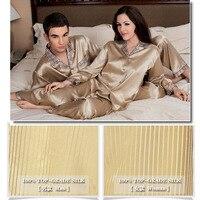 Бренд Для мужчин шелковые пижамные комплекты тяжелый шелк 29 Momme Мужская пижама с длинным рукавом 100% шелк пижамы Для мужчин Для женщин удобны