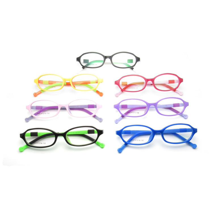 2019 Sale Children New Tr90 Frame Of Soft Silicone Environmental Comfort Students Myopia Finished Product 5005 Frames in Girl 39 s Blue Light Blocking Glasses from Apparel Accessories