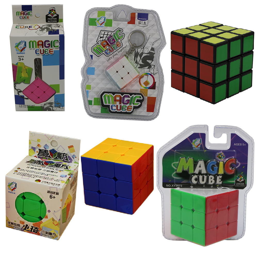5 Styles Magic Cube 3x3x3 Rubix Cube,High Quality Cheap Neo Cubo Magico 3x3x3 Speed,puzzles Cubes Magicos,magic Cube Keychain