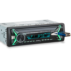 Image 3 - HEVXM 1012 12V 1 Din car MP3 playe  Car  Color Light MP3 Player  BT multi function MP3 player,