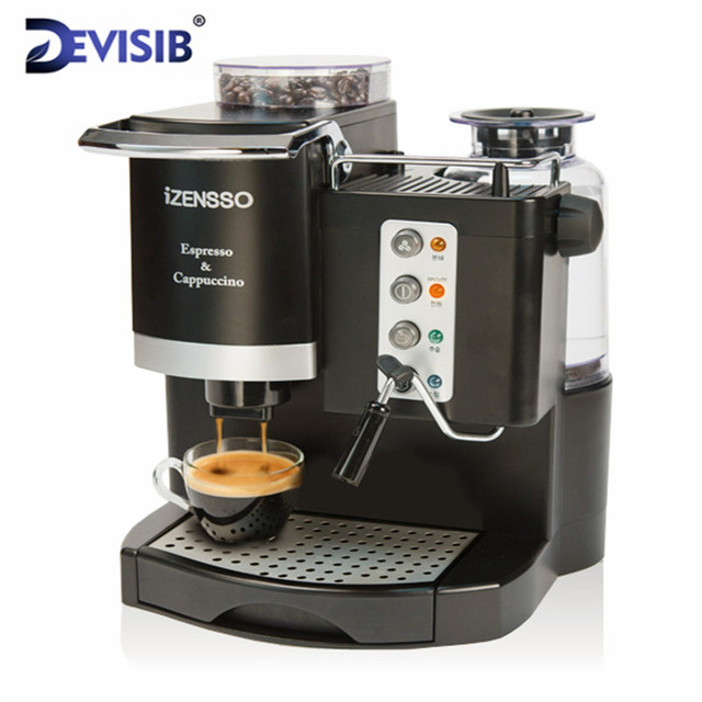 Devisib 20bar Automatic Espresso Coffee Machine Maker With Bean Grind And Milk Froth Simplified Version