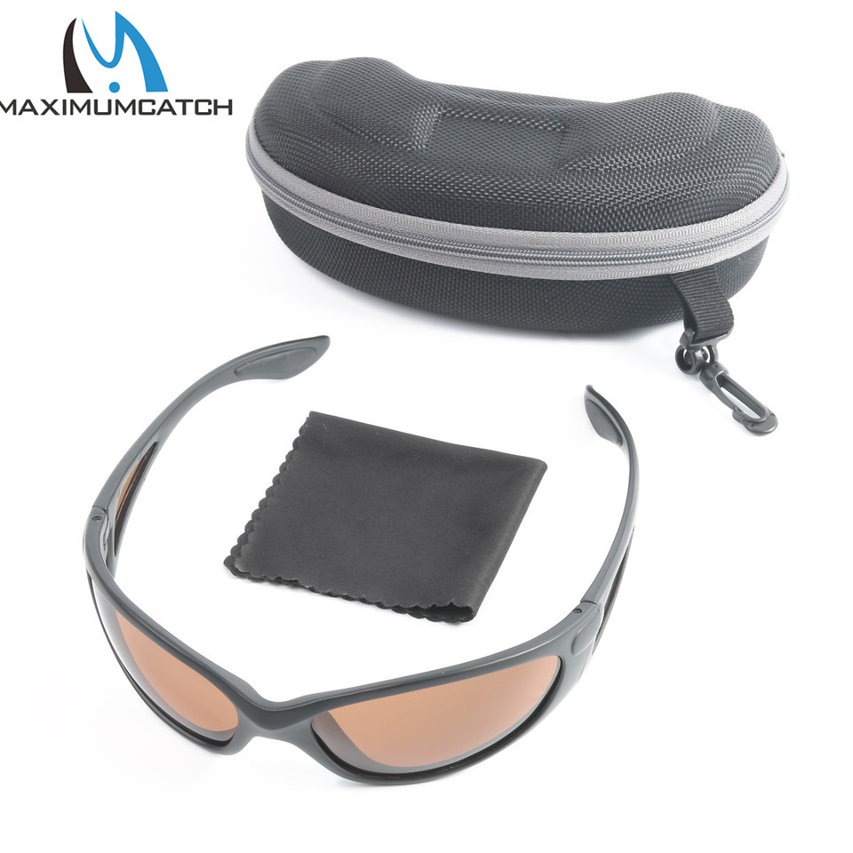 Maximumcatch AP1073 Popular Sport Sunglasses Brown Yellow And Grey Colors To Choose UV400 Fishing Sunglasses