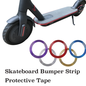 Skateboard Bumper Strip Pelindung Strip Tape 8 M untuk Xiaomi Mijia M365 Listrik Skateboard Mobil Scooter Parts Strip Dekoratif