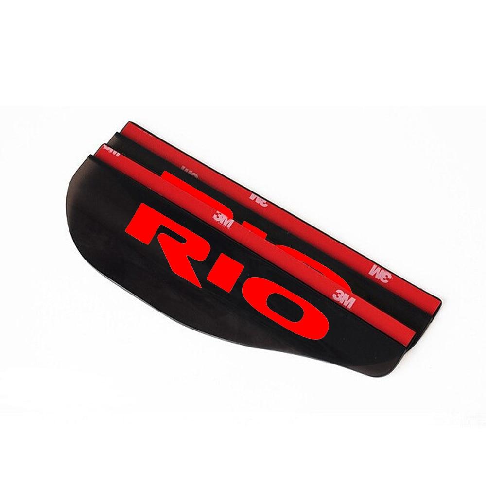 Voor Kia Rio Achteruitkijkspiegel Regen Schaduw Auto-accessoires Pvc Storm Schort Beschermen Regenbestendig Blades Rood 2 Stuks