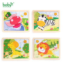 Baby Toys For Children Wooden Puzzle-Animals & People Kids Educational Toy Christmas Gift