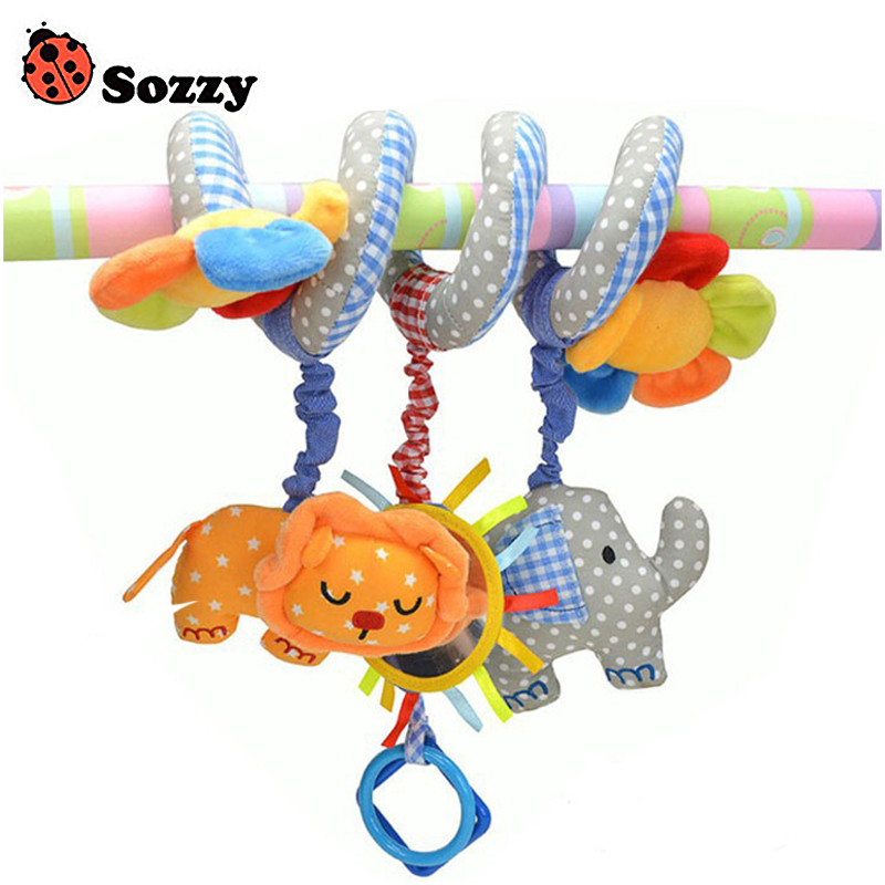 Sozzy Baby Toy Crib Car Bed Stroller Plush Spiral Hanging
