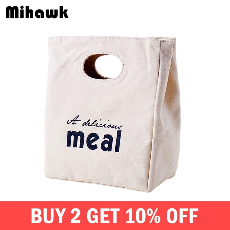 e447aae96162 Mihawk изоляцией тепла термопакеты для обеда Для женщин бокс для пикника  мальчиков термопакет свежие Еда контейнер для принадлежностей код