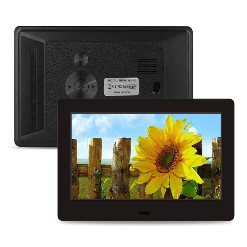 цена на ALLOYSEED 10 Inch HD LED Digital Screen Digital Photo Frame 1024x600 Electronic Calendar Alarm Timer Switch Video Player US Plug