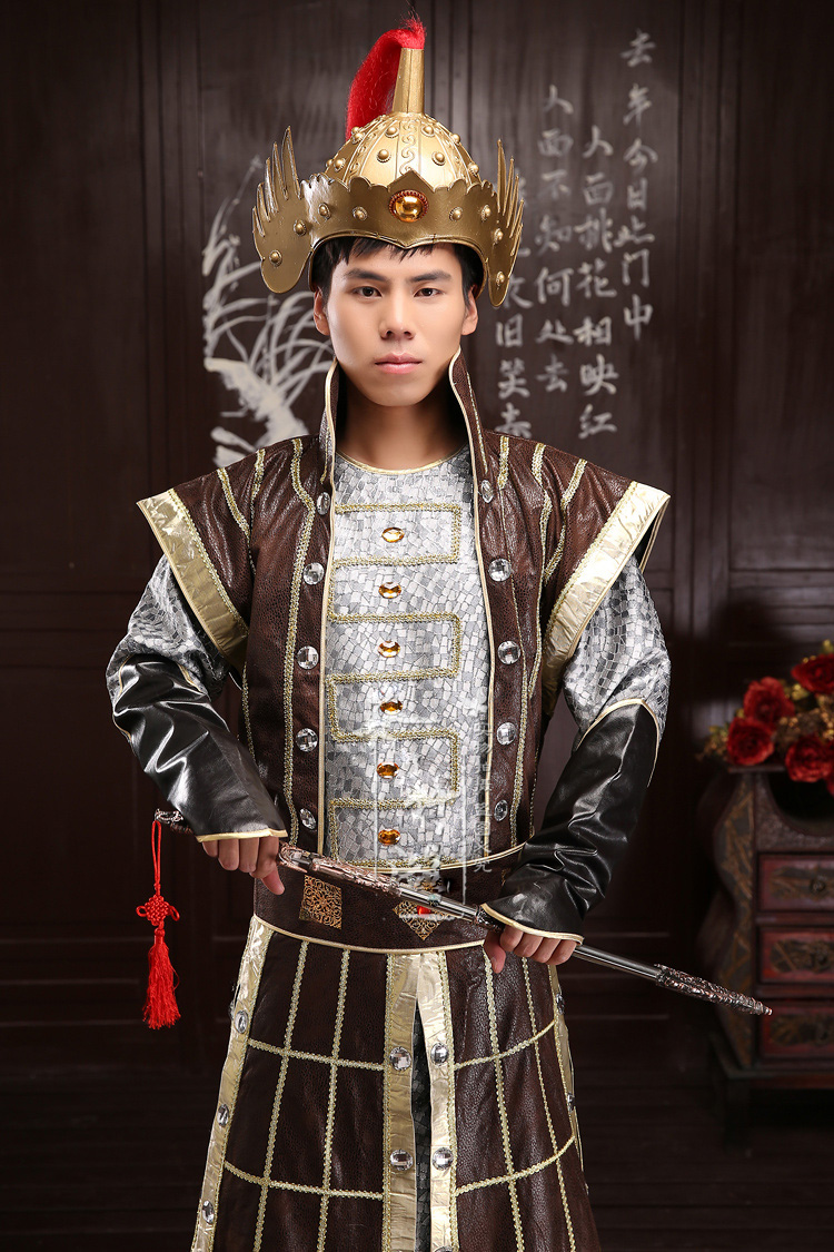 The kid and adult costume hanfu armor soldiers Wear Chinese Ancient generals clothing