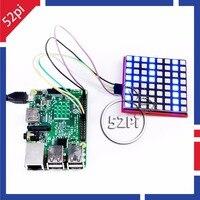 52Pi RGB LED Matrix Modul mit 74HC595 Chip Unterstützung SPI protokoll Led-anzeige Expansion Board für Raspberry Pi 3/Arduino/STM32