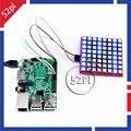 RGB LEVOU Matriz Módulo Raspberry Pi com Suporte Protocolo SPI 74HC595 Chip LED Display Placa de Expansão para Arduino STM32