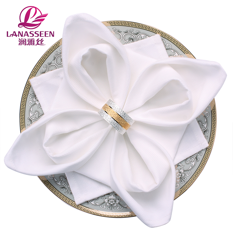 New Arrival 4 Pcs Western Dinner Napkins Cotton Table