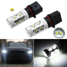 Fog Light LED Car Lights Front White Light LED Bulb P13W 10/12x3030SMD LED (DC12~24V) Car Foglight Headlamp 6500K White Light цена 2017
