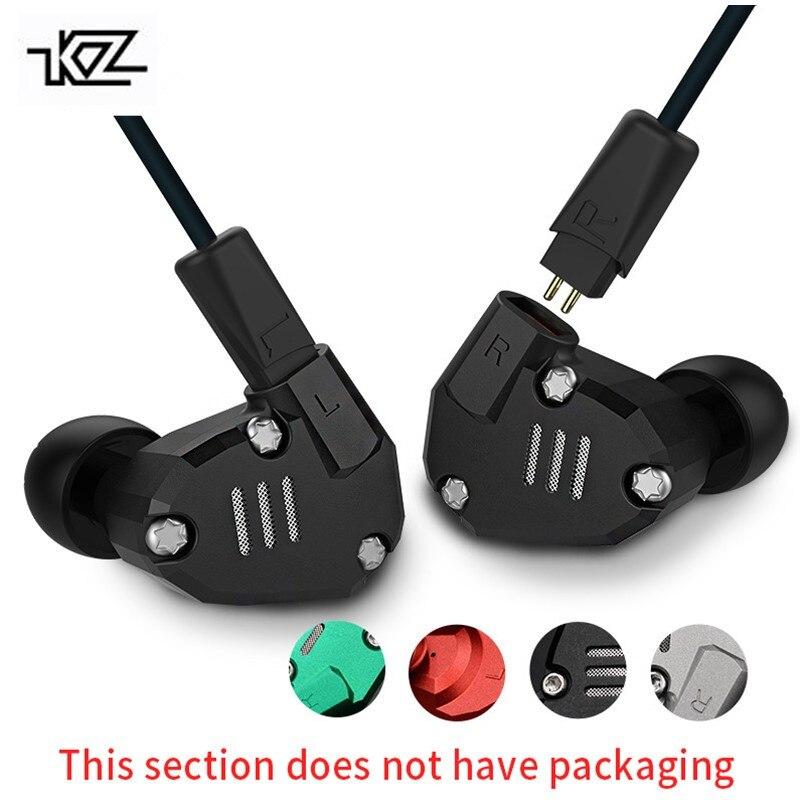 KZ ZS6 2DD+2BA Hybrid In Ear Earphone Monito Running Sport bluetooth Earphones Metal Earphone HIFI DJ Headset Earbud