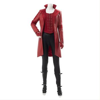 Captain America Civil War Wanda Maximoff Scarlet Witch Cosplay Costume Women Full Sets Outfit Boots