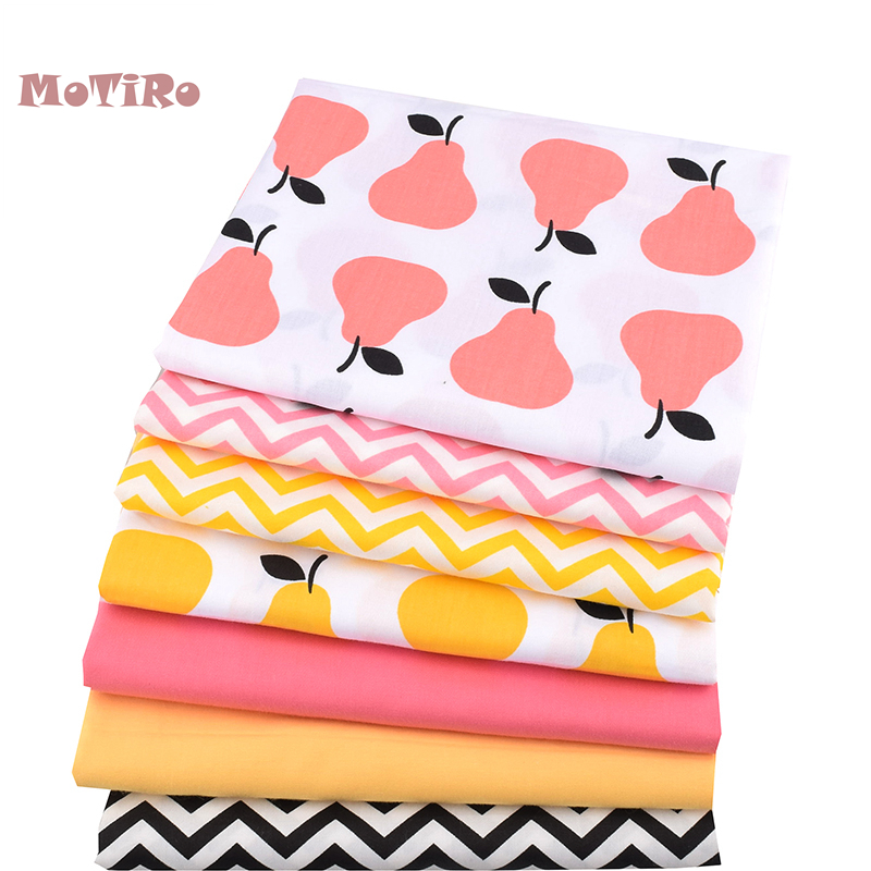 Apparel Sewing & Fabric Fabric Shop For Cheap Motiro,7pcs/lot,printed Twill Cotton Fabric Patchwork,colorful Fruits Pattern Of Cloth Bundle Craft/diy/quilting/pillow/bag/toys A Complete Range Of Specifications