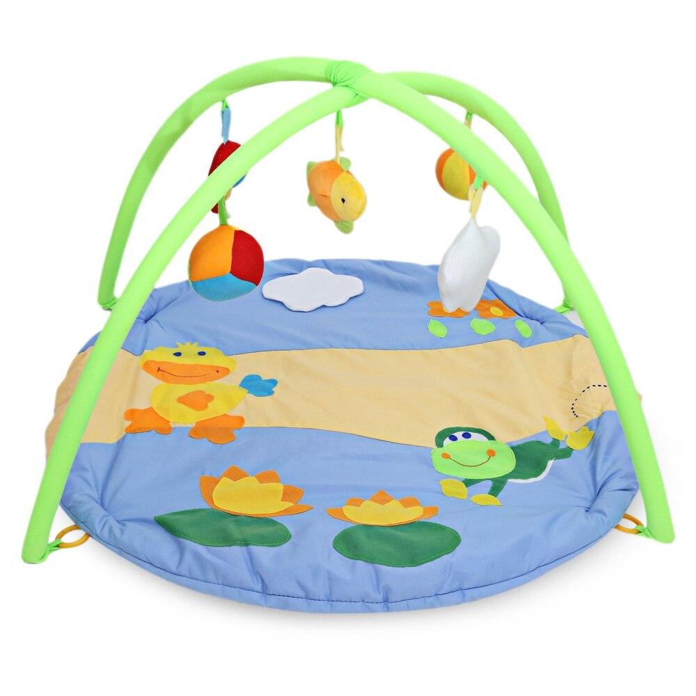 Activité de Jeu pour bébé Tapis Coloré Doux Motif de Canard Bébé Jouets Bébé Gym Éducatifs Fitness Cadre Multi-support Bébé Jouets jeu Tapis