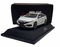1 43 Diecast Model For Honda Civic 2016 MK10 White Alloy Toy Car Miniature Collection Gifts