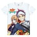 Shokugeki não Soma t-shirt Anime Cosplay Yukihira Souma Nakiri erina Megumi Tadokoro Está COS T camisa cozinha dos desenhos animados tshirt