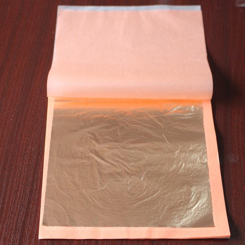 40 booklets 25 pieces per booklet foil 14 X 14cm Imitation red gold leaf sheet foil