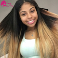 Brazillian Straight Hair Ombre 3 Bundle Best Human Hair Weave Brand Natural Black/Blonde/Brown/Black And Burgundy Brazilian Hair
