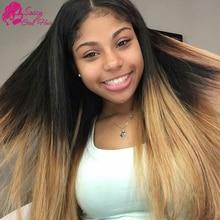 Brazillian Straight Hair Ombre 3 Bundle Best Human Hair Weave Brand Natural Black Blonde Brown Black