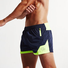 Superbody Mens Fitness Shorts with Zip Pockets Bodybuilding Short Casual Polyester Board Shorts Boxers Apparel