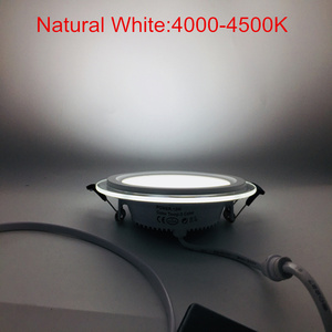 Image 5 - Warm/Natural/Cold White 3 COLOR CHANGEABLE LED Downlight Recessed LED Ceiling Panel Light 10pcs/lot, DHL Free Shipping
