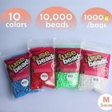 1 лот/10 мешков 3 мм бисер мини-Хама 1000 шт./пакет 50 цветов мини artkal perler бусины гарантировано большое удовольствие