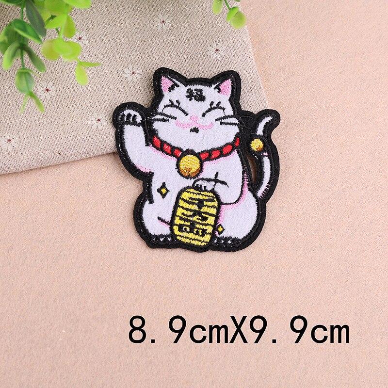 DoreenBeads 1 шт., милые нашивки с изображением из мультфильма Lucky Cat, вышитый талисман, нашивки для одежды, сделай сам, аппликация в полоску, наклейки для одежды