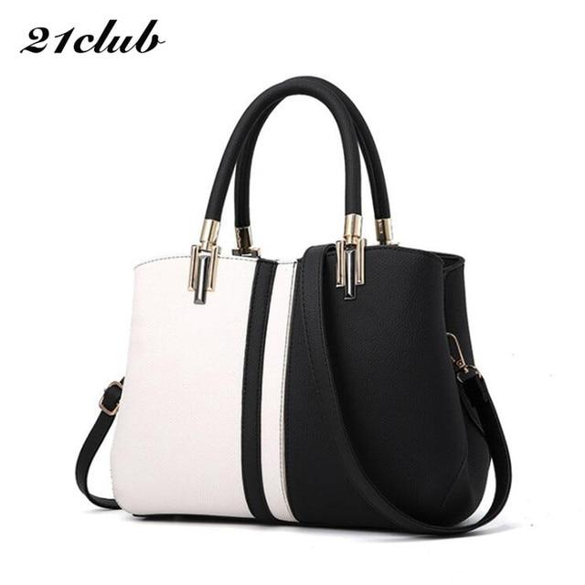 9c6c6fd85a636 21 klub marki średnie duża pojemność colorblock zipper moda panie skrzynki  zakupy pracy torebka kobiety na