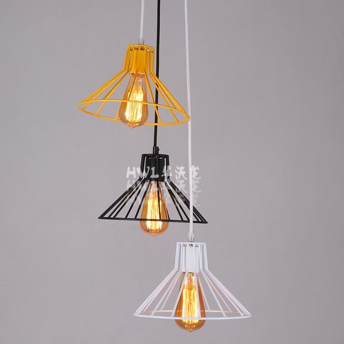 ФОТО Loft Retro American  Edison Bulb Loft Colorful Iron Umbrella Pendant Lamp Coffee Shop Bar Decoration
