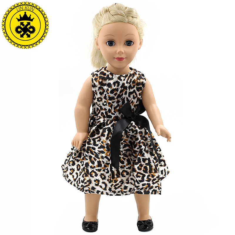 Handmade Multicolor Printing Princess Dress Doll Clothes for 18 inch Dolls American Girl Doll Clothes Accessories 15 Colors D-11 handmad 18 inch american girl doll clothes princess anna dress fits 18 american girl doll mg 032