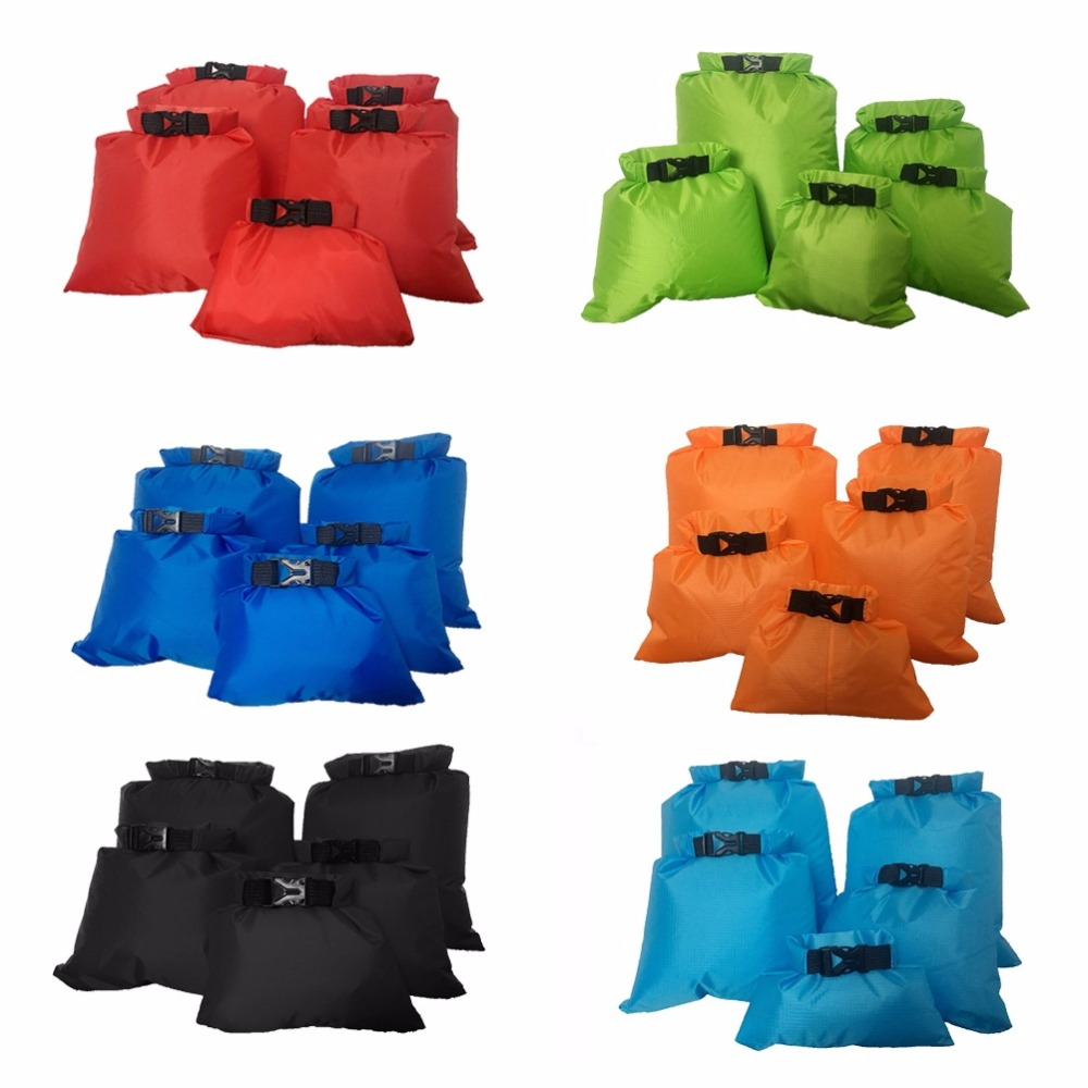 Coated silicone fabric waterproof dry Boating bag Storage Drifting Pouch Rafting dry bag 1.5 / 2.5 / 3.5 / 4.5 / 6 L