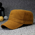 Men Women Classic Plain Hat Adjustable Army Style Cap Flat Top Winter -Y107