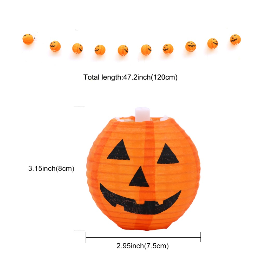 Ourwarm Halloween Pumpkin String Lights 3d Pumpkin 10 Led 1 2m