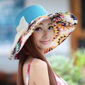 Summer and spring beach hats collapsible anti-uv for ladies
