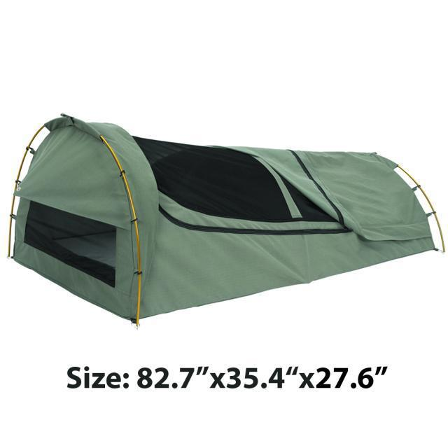Single Canvas Swag High Grade Waterproof Sunscreen Camping Tent Sleeping Bag Roof Ventilation Mosquito Bed In Tents From Sports Entertainment On