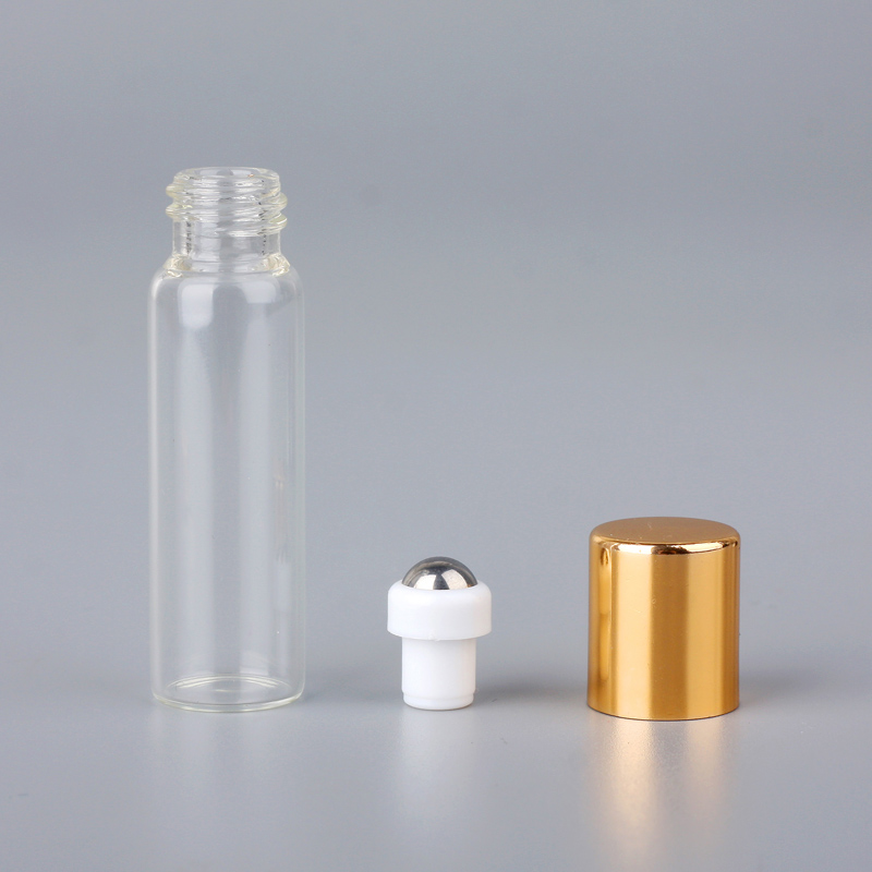 100 ชิ้น/ล็อต Mini ขวดน้ำหอมแก้วม้วนบนเครื่องสำอางค์น้ำมันหอมระเหยสำหรับเดินทางแก้วเหล็กลูกกลิ้งขวด-ใน ขวดรีฟิล จาก ความงามและสุขภาพ บน   3