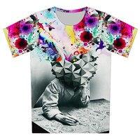 בתוספת גודל XS-6XL חולצה גברים/נשים 6 Styels הדפסת תמונות יצירתית o-צוואר T חולצת שרוול קצר גברים HipHop Harajuku צמרות טי