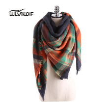 Winter Scarf Women Plaid Fashion Blanket Shawls tartan Female Warm Wool Wrap Cashmere lady Scarves Bufanda bandana Tippet Z1670