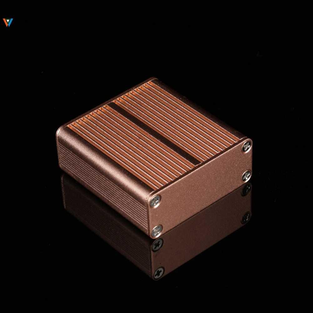 Aluminium Instrument Doos Behuizing Diy Elektronische Project Case Panelen Schroeven Diy Ingebouwde Groeven 45*45*19 Mm