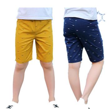 Chłopięce spodnie letnie 2018 modne chłopięce spodnie dziecięce krótkie spodnie dziecięce ubrania nastolatki duży rozmiar 4 6 8 10 12 16 rok tanie i dobre opinie COTTON Proste Chłopcy PATTERN Kolano długość Pasuje mniejszy niż zwykle proszę sprawdzić ten sklep jest dobór informacji