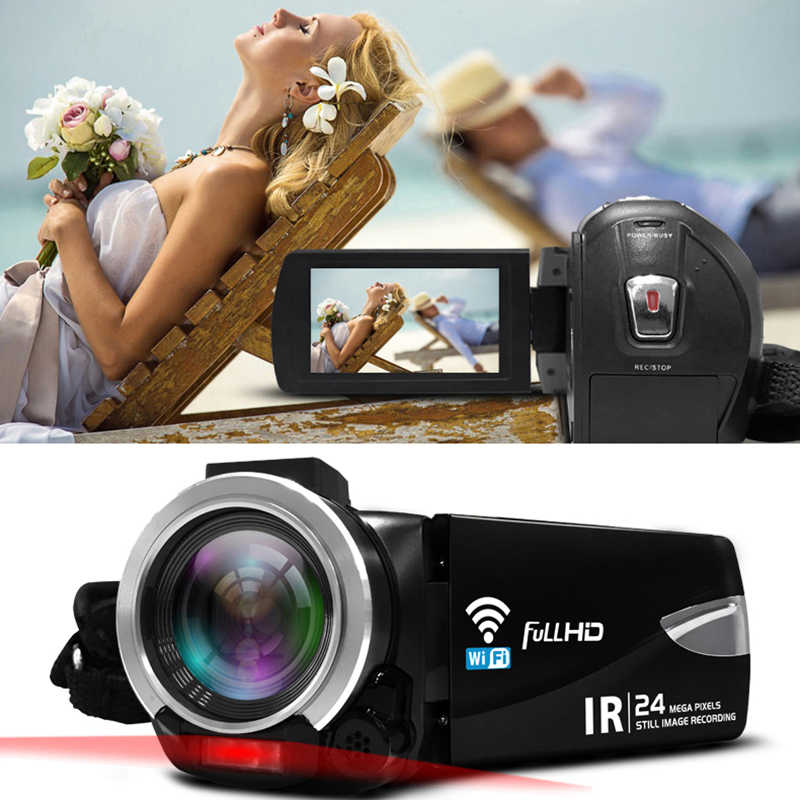Ordro Full HD 1080P Digital Camera 3.0 inch Touch Screen IR Night Vision Mini Camcorder Wifi Control Video Cameras